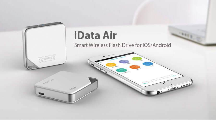 Idata Air Is A Smart Wifi Wireless Flash Drive With The Key Feature Expand Storage On Your Mobile Devices Without Cables And Support Simultaneous